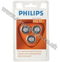 Philips Philishave Super Reflex Triple Pack Rotary Cutting Head HQ55 (Genuine)