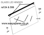 Genuine BEKO Glass Lid Hinges :