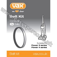 Vax Power 3 & Power 4 Belt Kit 1-1-130670-00 (Genuine)