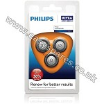 Philips Philishave Coolskin Triple Pack Rotary Cutting Head HQ167PK3 (Genuine)