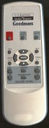 Goodmans Remote Control for models: GHC-50 SU SOUND NB NEW MODELS ONLY
