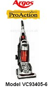 Argos Proaction Bagless Vacuum Cleaner Model VC93405-6