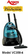 ARGOS Proaction Bagless Vacuum Cleaner Model VC358-S