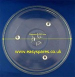Glass plate for microwave 245MM With 3 pips