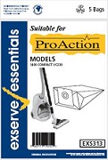 Exserve Essentials 'Pro Action' Vacuum Cleaner Bag: EXS313