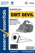 Exserve Essentials 'Dirt Devil' Vacuum Cleaner Bag: EXS147