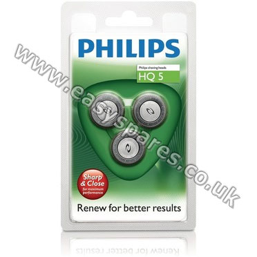 Philips Philishave HQ5 40 Reflex Action Triple Pack Rotary Cutting Head  (Genuine) 9bc166597ad